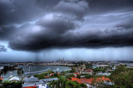 storm on city